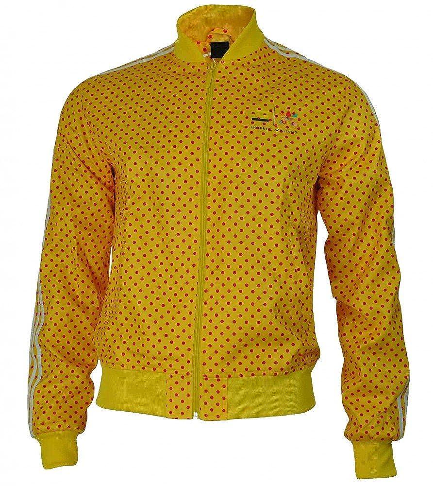 adidas Originals Track Jacket Pharrell Williams Dot Men's Jacket Yellow Sizes:XS