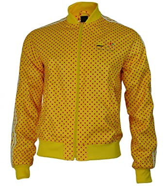 3eab7443e924 adidas Originals Track Jacket Pharrell Williams Dot Men s Jacket Yellow