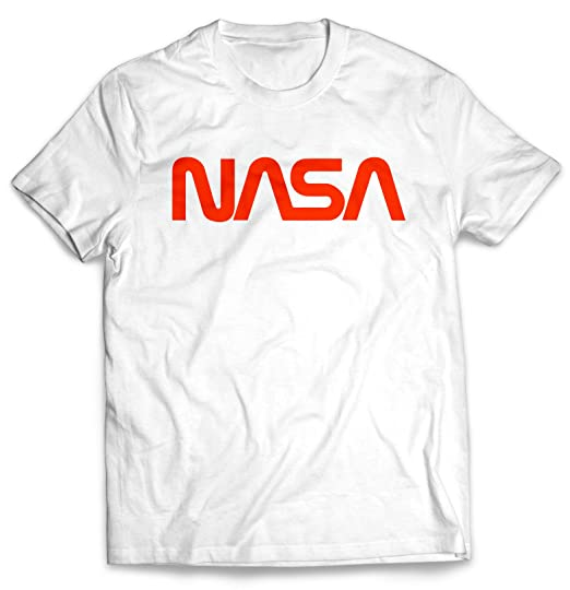 412a82530 Amazon.com: Men's Retro Vintage NASA Worm Logo Premium Soft T-Shirt ...