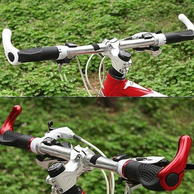 YUNFUN Puños Bicicleta, Puños Scooter Montaña Bici MTB Mangos de Goma Antideslizantes con Mango Corto Bicicleta de Piezas de Bicicleta de Scooter montaña: Amazon.es: Deportes y aire libre