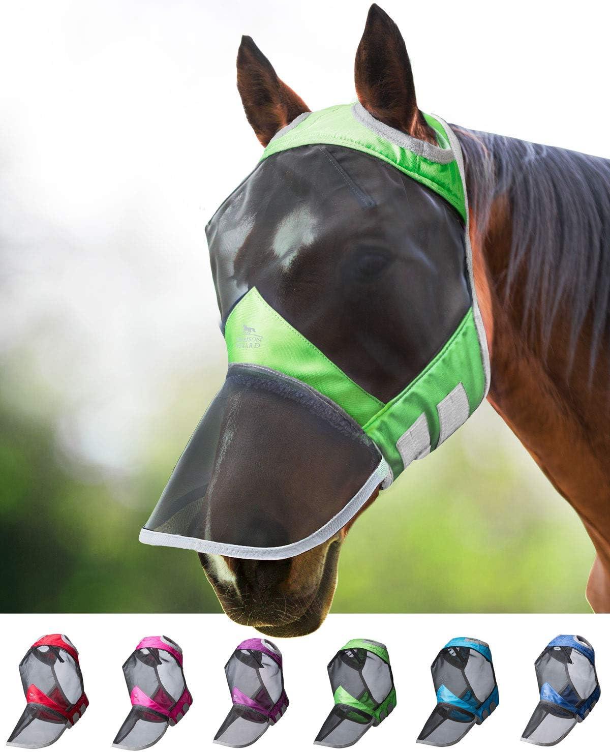 Harrison Howard CareMaster Pro Luminous Fliegenmaske UV-Schutz ohne Ohren mit Nasenschutz