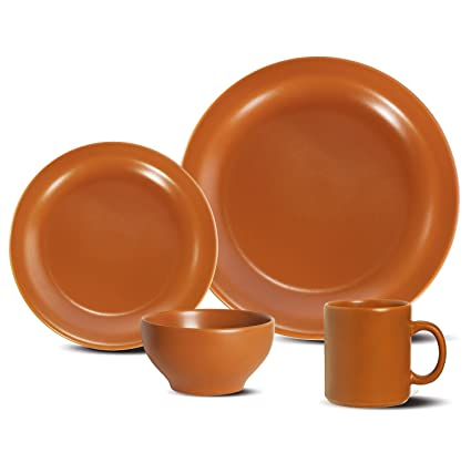 Oxford Daily Dinnerware Place Setting Terracotta 16-Piece  sc 1 st  Amazon.com & Amazon.com | Oxford Daily Dinnerware Place Setting Terracotta 16 ...