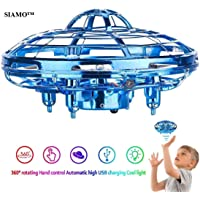 SIAMO® LH Hand-Controlled 360° Rotating UFO for Kids or Adults - Hand Sensing Mini Drone Helicopter, Easy Indoor Small Orb Flying Ball Drone Toys for Boys or Girls(Any Color)