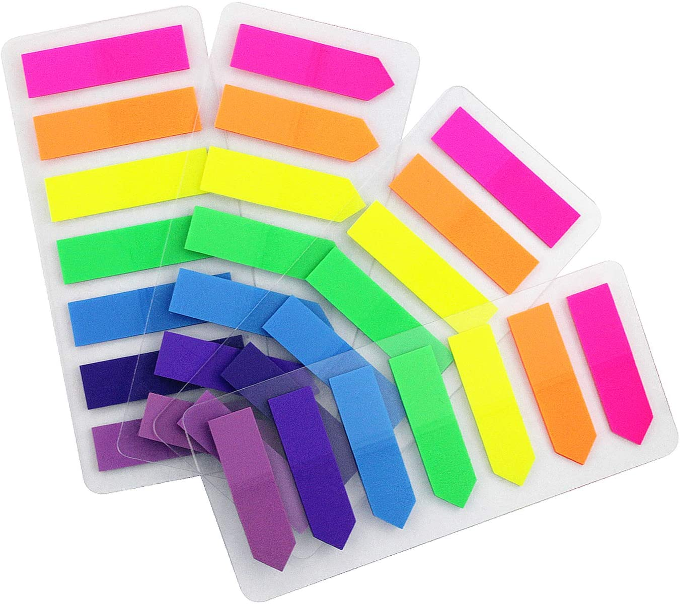 4 Sets 0.5x1.8 Flags Tabs Neon Page Markers 7 Bright Color Sticky Index Tabs Neon Note Tabs Page Flags 560 Pcs : Office Products