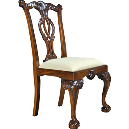 Image Unavailable - Amazon.com - NDRSC013 PAIR Of Philadelphia Chippendale Side Chair By