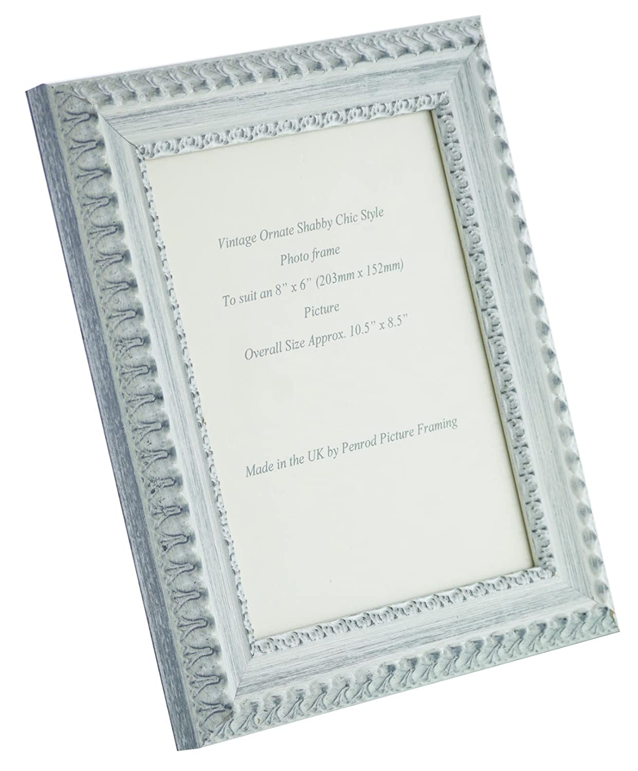 Shabby Chic White Ornate Picture Frame 8 x 6