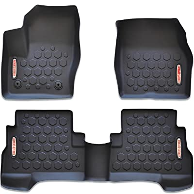Elements Defender 2013-2020 Ford Escape Floor Mats (Front & Rear Liners - 100% Weather Resistant) 1st & 2nd Row Liners Fits All 2013, 2014, 2015, 2016, 2020, 2020 Escape Models (Including C-Max): Automotive