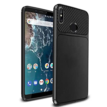 timeless design 24ae9 1c61f Ferilinso Xiaomi Mi A2 Case, Flexible Rugged Armor Hybrid Defender  Shockproof Protective Case Carbon Fiber Design Cover for Xiaomi Mi A2  (Black)