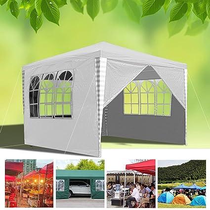 Hengda 3 x 3 m Jardin Tonnelle étanche Jardin Camping Stable tente tubes  d\'acier stable de haute qualité avec 3 parties latérales et 1 entrées  étanche