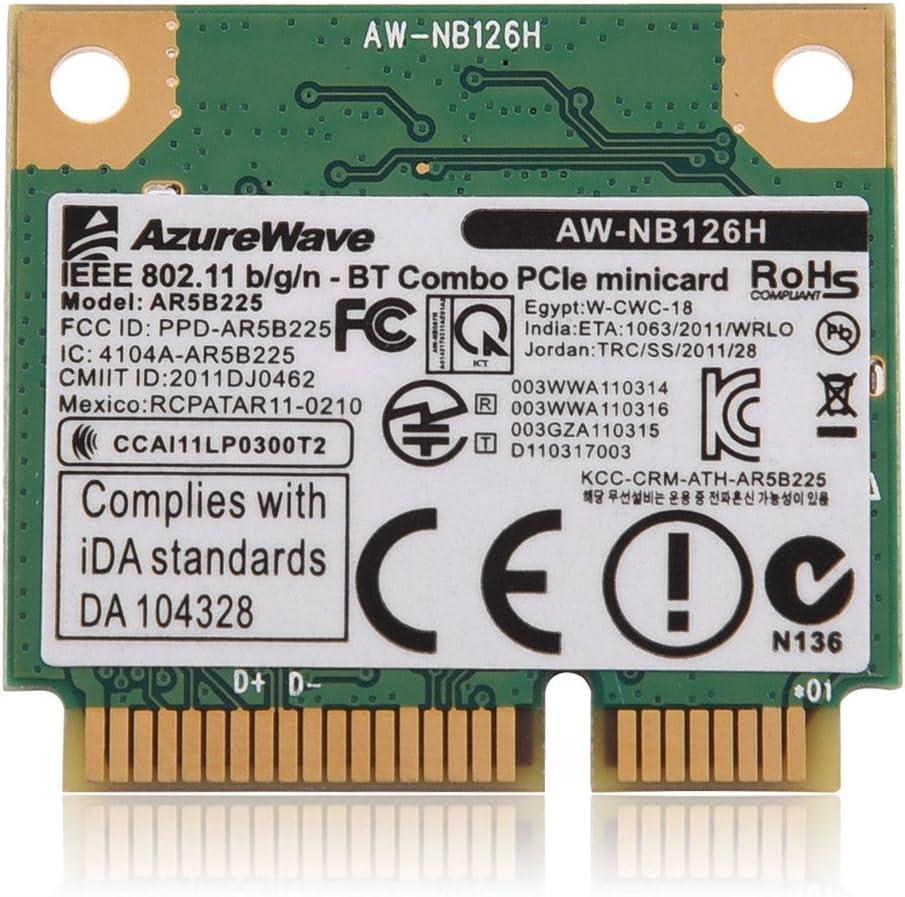 Richer-R Mini 2 en 1 Tarjeta Adaptador de Red,WiFi Tarjeta Inalámbrica Admite Bluetooth 4.0/3.0/2.1/2.0.Tarjeta Wireless para PC/Laptop DELL/ASUS/Toshiba/BenQ/Hasee