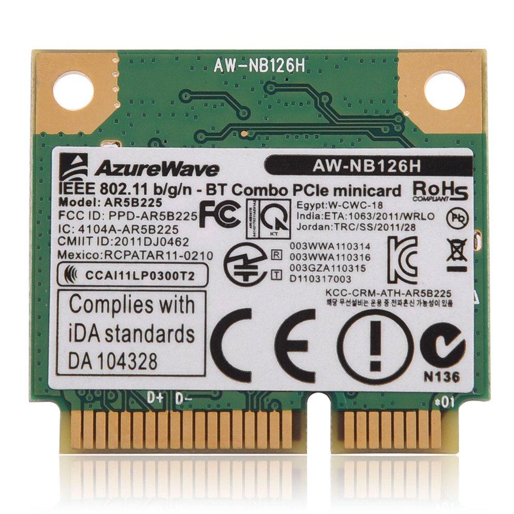 Asixx Scheda Wireless WiFi, 2.4G Bluetooth WIFI Scheda 2 in 1 Wireless per Mini Slot scheda PCI-E per DELL/Asus/Toshiba/BenQ