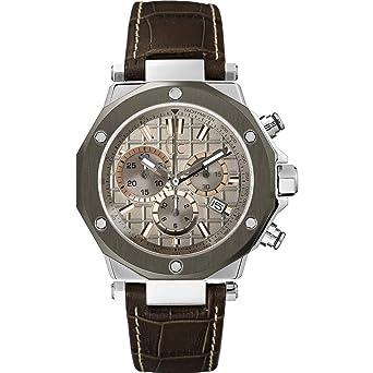 Guess Reloj Cronógrafo para Hombre de Cuarzo con Correa en Cuero X72026G1S: Amazon.es: Relojes