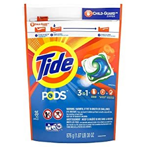 Tide PODS Original Scent HE Turbo Laundry Detergent Pacs, 35 count