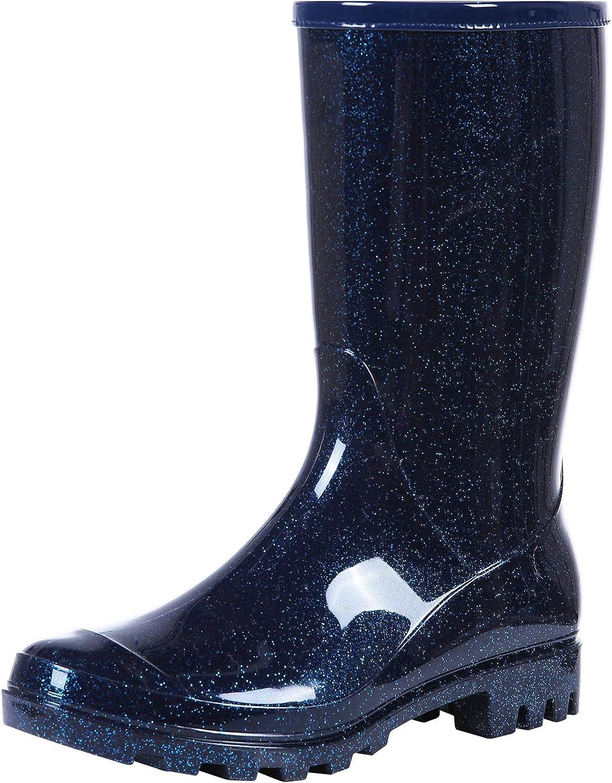 Womens Mid Calf Rain Boots Waterproof Lightweight Garden Shoes
