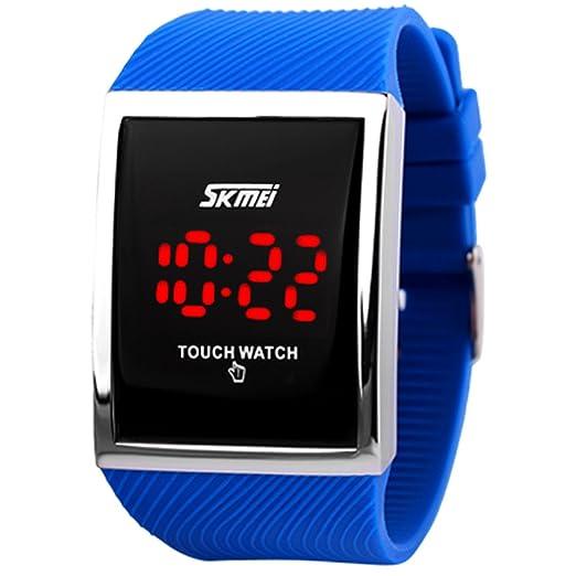 Reloj de pantalla táctil para deportes al aire libre con LED, digital. Para niños o niñas mayores de 10 años.: Amazon.es: Relojes