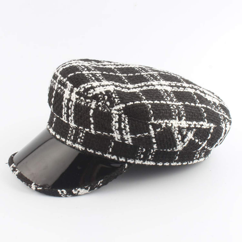 MEIZOKEN Spring Autumn Womens Hat Newsboy Cap Octagonal Hat with Visor Girl Military Beret Hat gorros