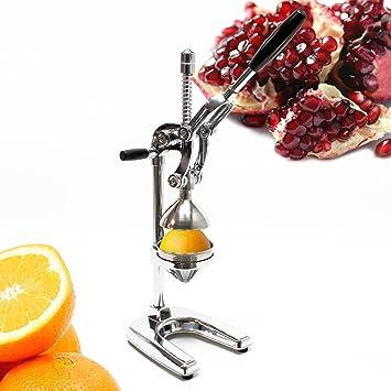 Exprimidor XL Profesional Naranjas Limones Frutas Zumo Palanca Manual Acero Inox Desmontable: Amazon.es: Jardín