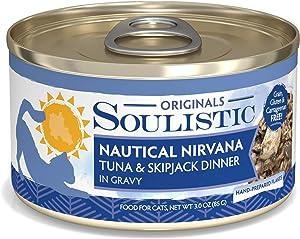 Soulistic Originals Nautical Nirvana Tuna & Skipjack Dinner in Gravy Wet Cat Food, 3 oz., Case of 12, 12 X 3 OZ