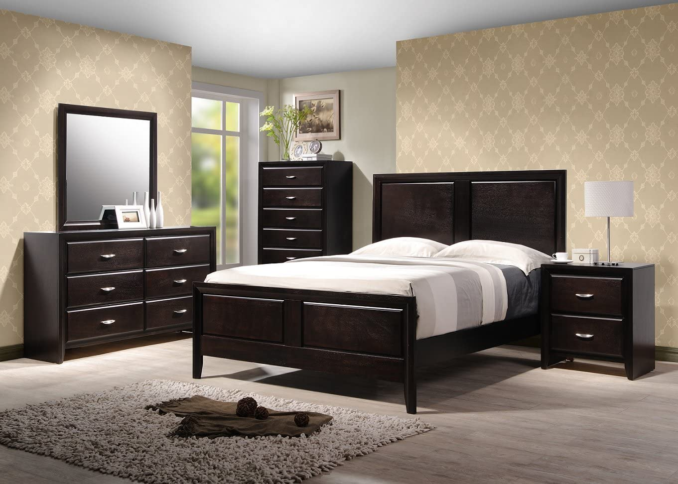 Amazon Com Yuan Tai Adele 5 Piece Bedroom Furniture Set King