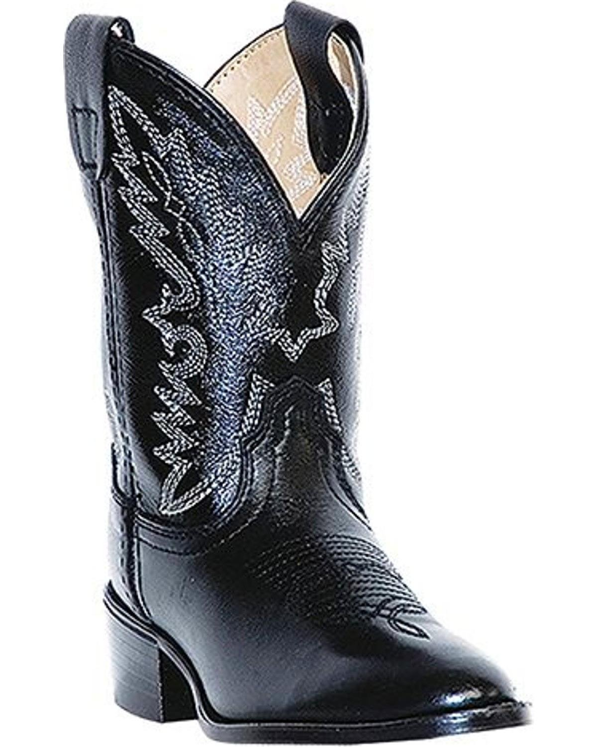 Dan Post Boys' Chaps Cowboy Boot Round Toe Black 9.5 D(M) US by Dan Post Boot Company (Image #1)