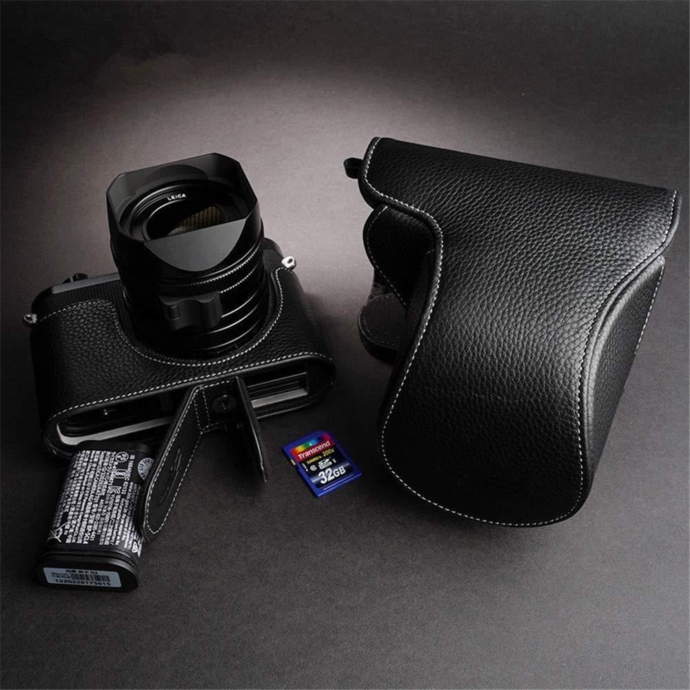 XJPB Caja de la cámara/cámara de Base/Caja Genuina del Cuero de la ...