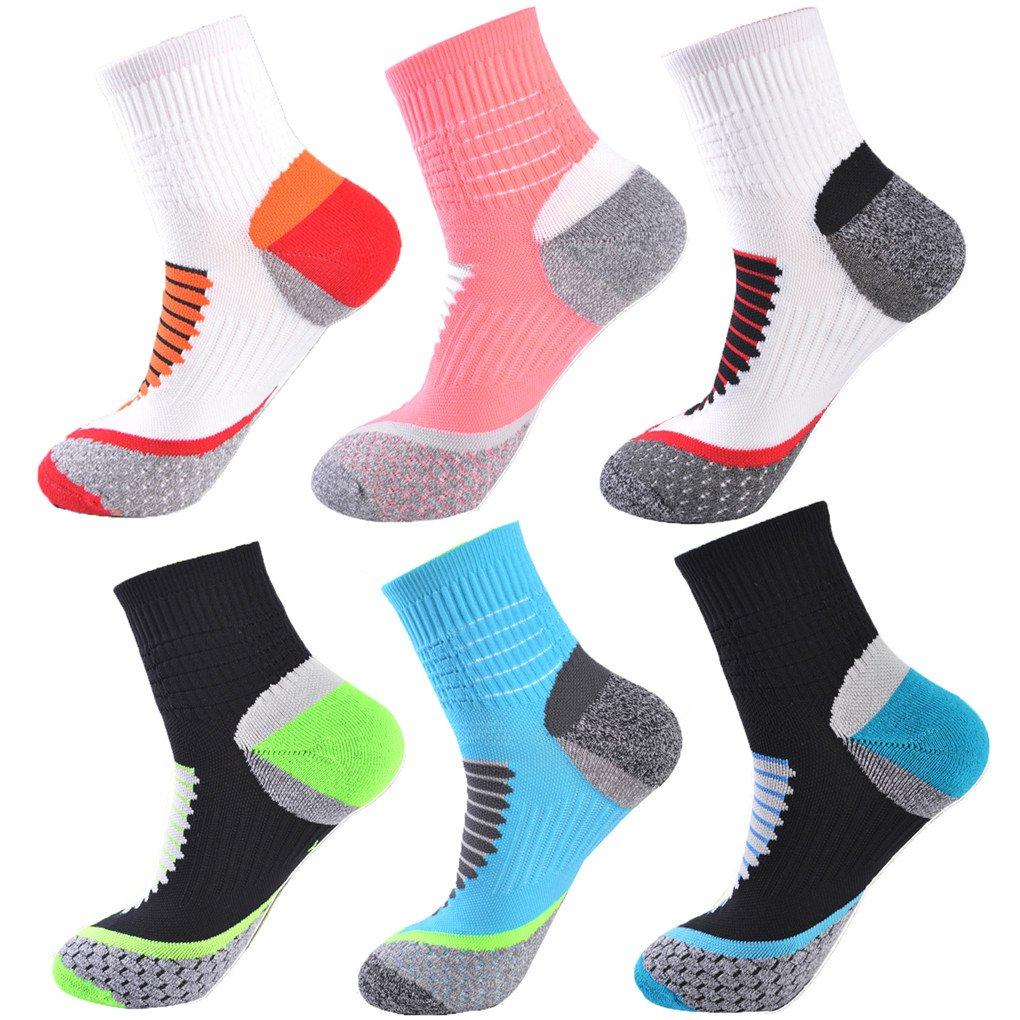 Leoparts Men's Soccer Football Socks Cushioned Dri-Fit Athletic Crew Socks