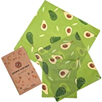 Beeswax Food Wraps 6 Pack - (2S, 2M, 2L) - Durable, Eco-Friendly, Organic & Reusable Food Wrap - Sustainable…
