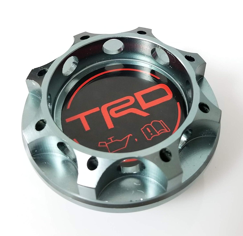 TRD Racing TITANIUM Engine Oil Filler Cap Oil Tank Cover Aluminium