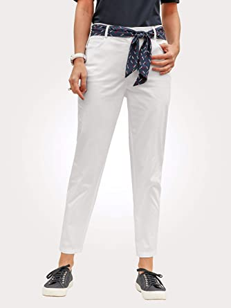 e20fc9c83383e MONA Damen 7/8-Hose mit passendem Gürteltuch 46: Amazon.de: Bekleidung