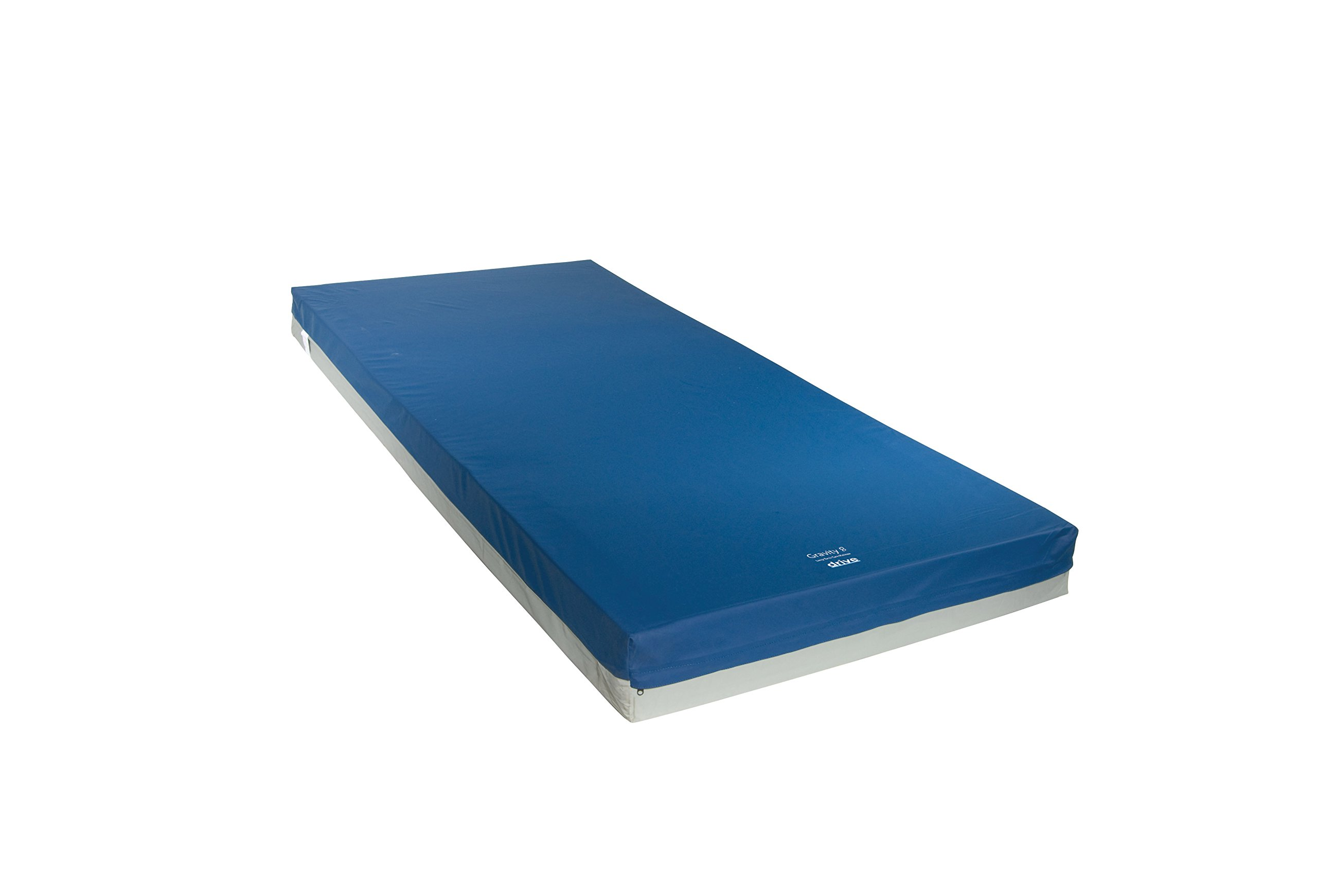 Drive Medical 15887 Gravity 8 Long Term Care Pressure Redistribution Mattress, Blue