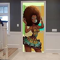 Tradicional Mujer Africana Negro con Pelo Afro Que