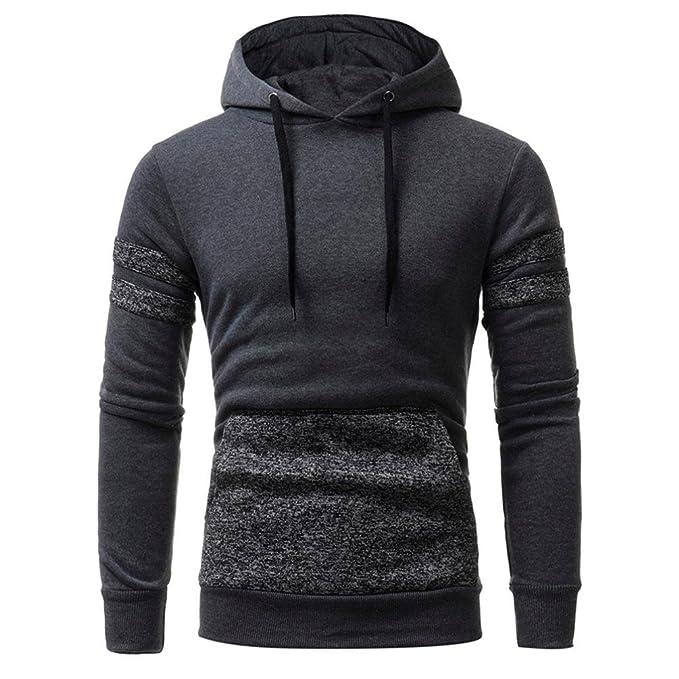 ... para Hombre de Impresa Camiseta de Manga Larga Hombres Hooded Chaqueta Tops Blusa Pullover Deportivas Sweatshirt Top tee: Amazon.es: Ropa y accesorios