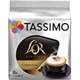Tassimo L'Or Cappuccino 8 Discs Roasted Coffee + 8 Discs Concentrated Milk