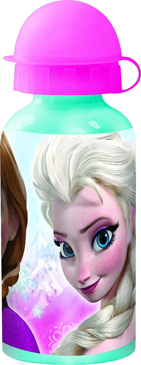 Disney Frozen Botella cantimplora de Aluminio 400 ml Timeless (STOR 55734), Multicolor