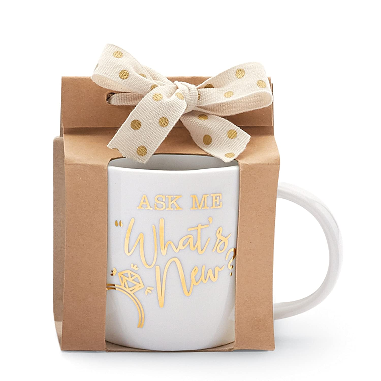Mud Pie Ask Me Wedding Announcement Mug 4355045A