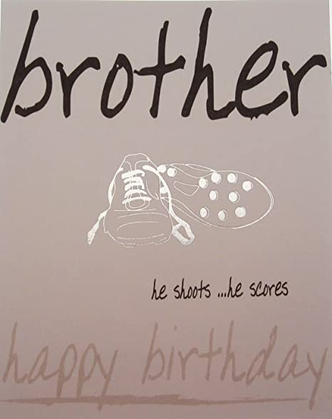 WHITE COTTON CARDS Brother Happy Birthday Card Trainers