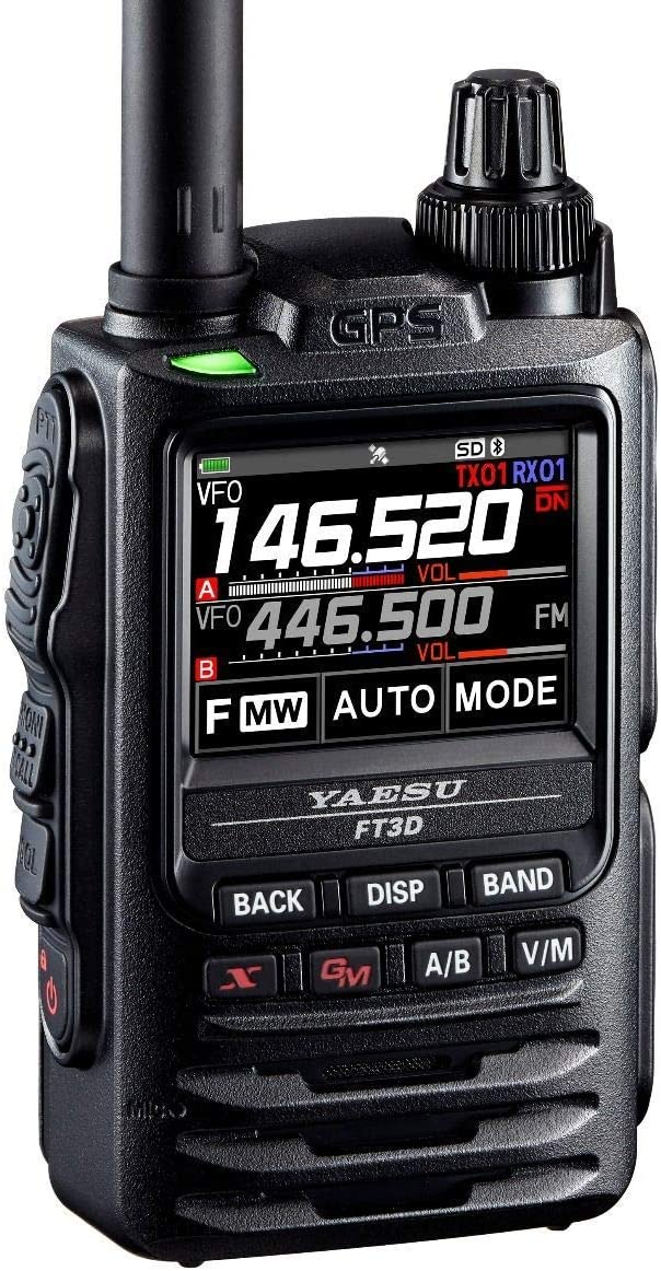 Yaesu FT-3DR C4FM//FM 144//430MHz Dual Band 5W Digital Transceiver with Touch Screen Display