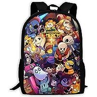 Undertale Backpack Laptop School Bag Travel Cool 3D Printing Teen Unisex Adult Game Fan Gift 17 Inch