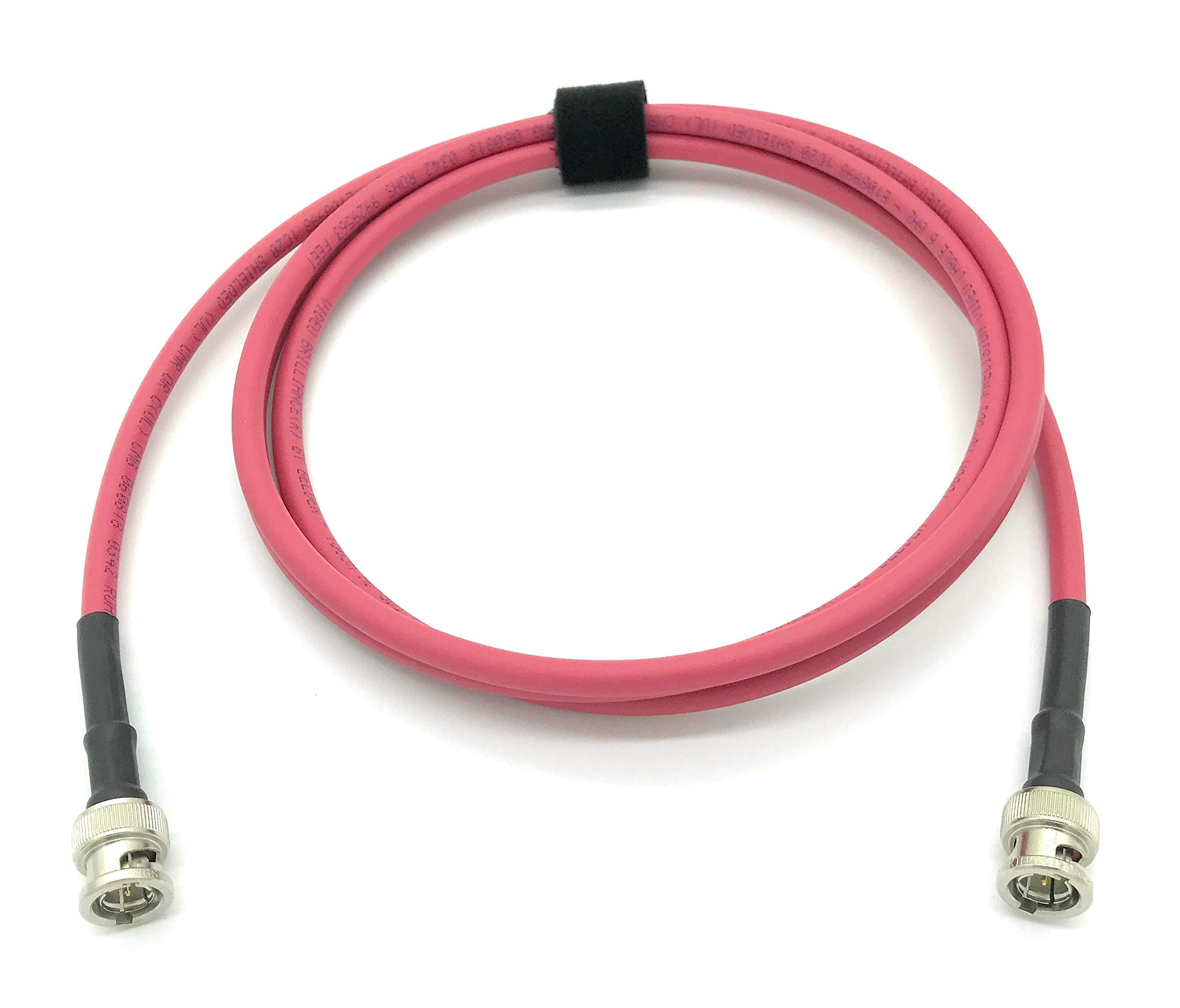 AV-Cables 3G/6G HD SDI BNC RG59 Cable Belden 1505A - Red (200ft) by AV-Cables