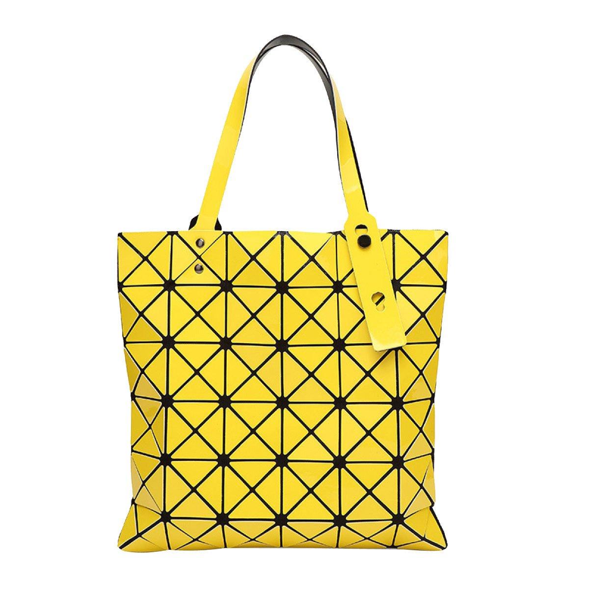 Frauen Hologramm Geometrische Split Joint Plaid Plaid Plaid Schulter Handtasche B077KXMPHG Henkeltaschen Schön bbf8ec