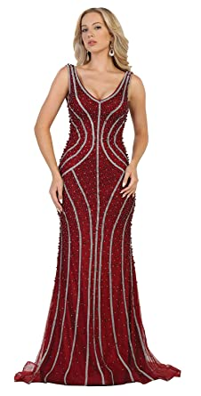 Royal Queen RQ7511 Red Carpet Fitted Formal Dress - Red -