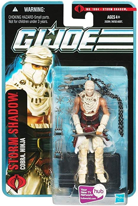 Hasbro GI Joe Pursuit of Cobra (POC) #1004: Desert Battle Storm Shadow (Cobra Ninja) 3.75 Inch Action Figure