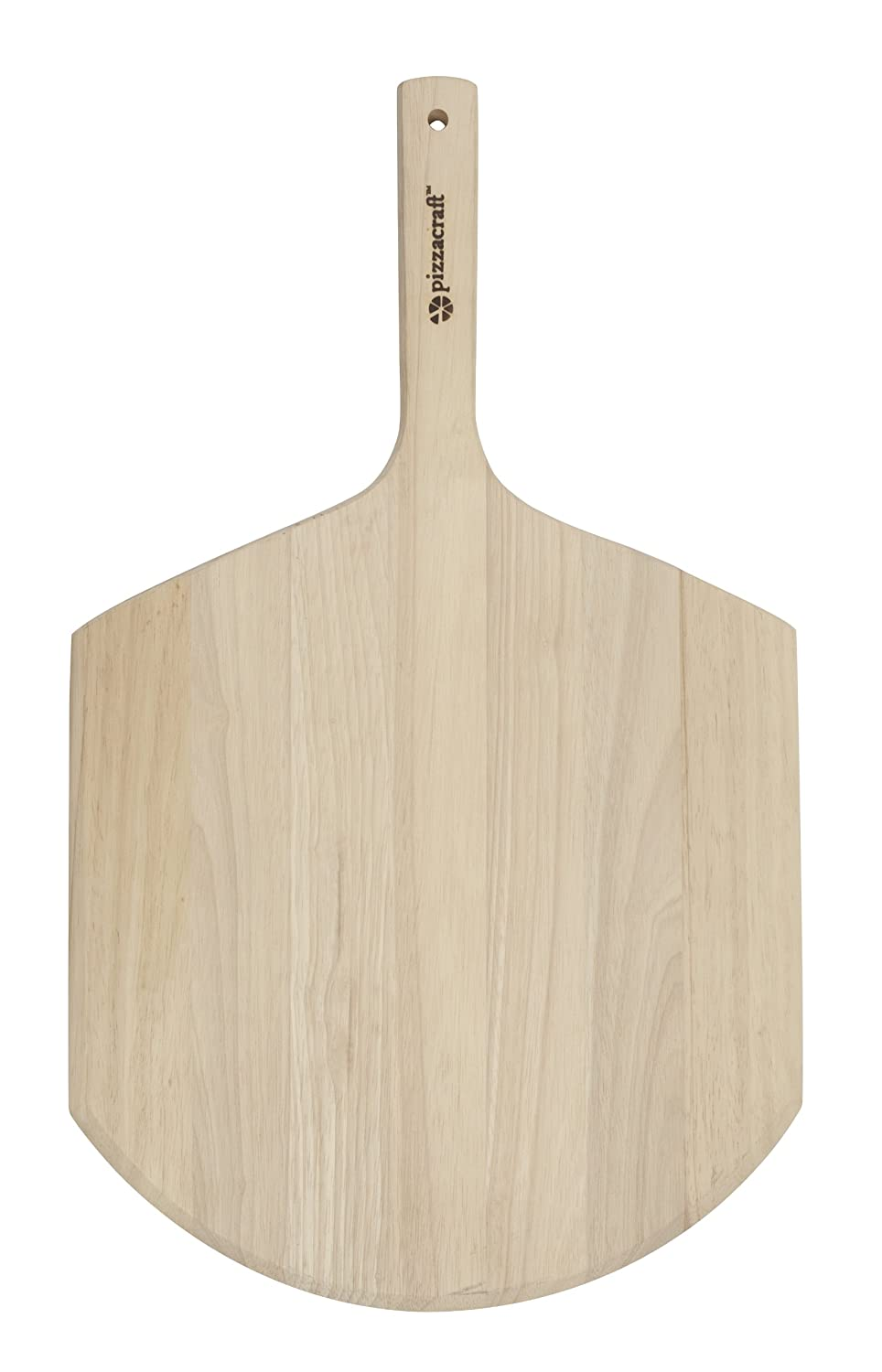 Pizzacraft Pizza Peel With Folding Wood Handle For Easy Storage (Stainless Steel) - PC0200 Charcoal Companion