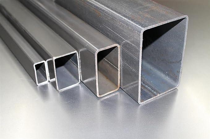 B/&T Metall Stahl Vierkantrohr 35 x 35 x 2 mm in L/ängen /à 2000 mm 0//-3 mm Quadratrohr ST37 schwarz roh Hohlprofil Rohstahl