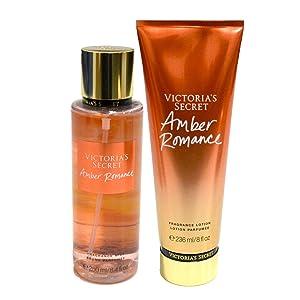 Victoria Secret Amber Romance Fragrance Body Mist & Lotion Set