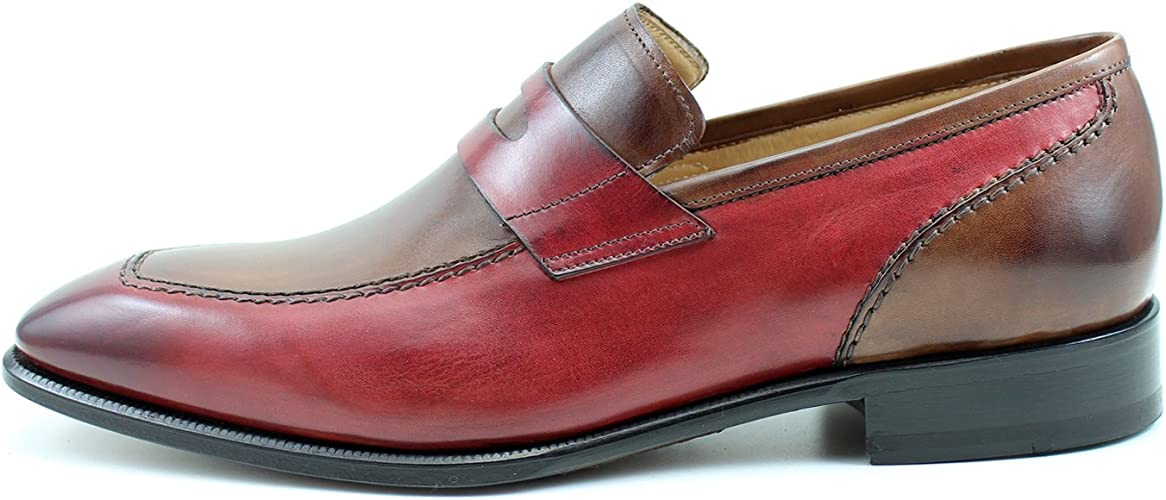 Deux Rea Chaussures Marron Giorgio Homme Tons Rouge CrxodeBW