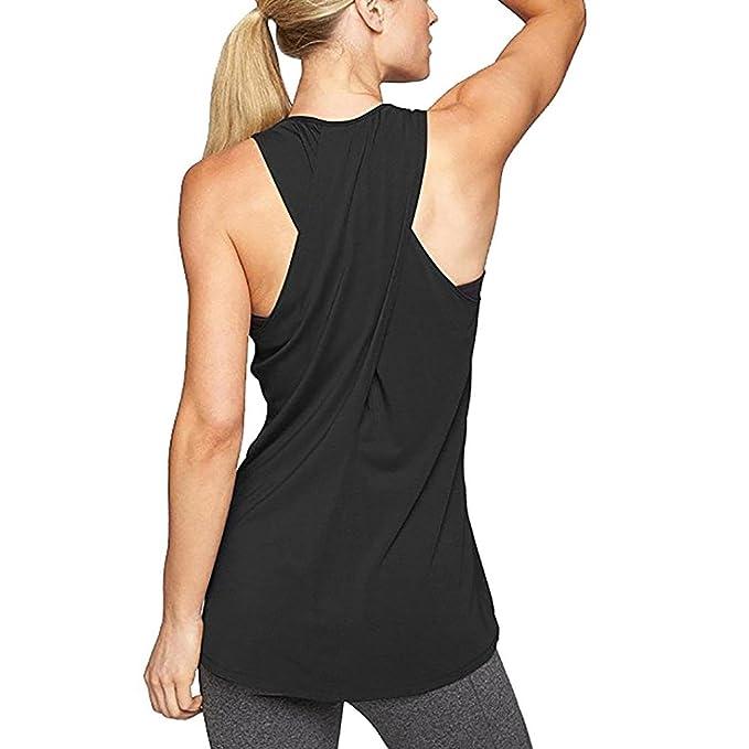 Lananas-Mujer Tops Tops Deportivos para Mujeres, 2018 Nuevas Ventas Calientes Camisa de Yoga Running Tank Tops Vest Entrenamiento de Gimnasio Cross ...