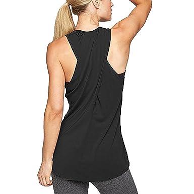 e516eafd32493d Damen Sportoberteile, 2018 heiße Yoga Shirt Running Tank Tops Weste  Fitnessstudio Training Cross Racerback Ärmelloses