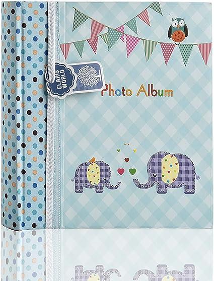 15x10cm Album photo Arpan Slip in Memo b/éb/é gar/çon bleu 200 porte 6x4