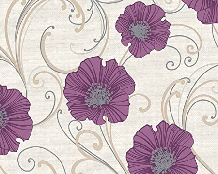 a s creation 3327 21 chicago floral print wallpaper amazon co uk